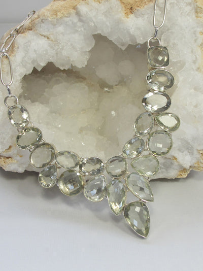 Green Amethyst Quartz Necklace 4