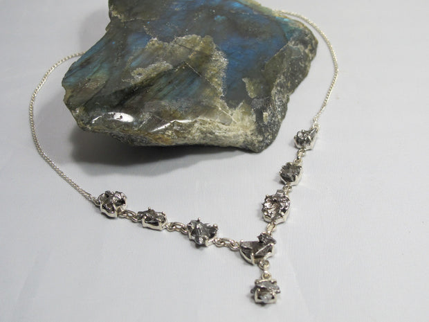 Sterling and Meteorite Necklace 4