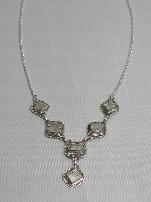 Sterling and Meteorite Necklace 2