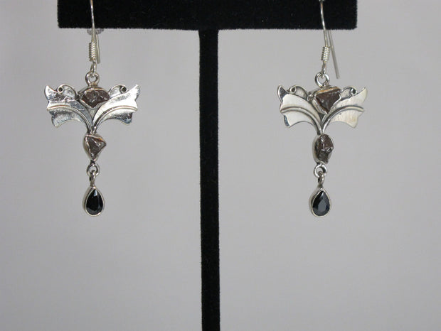 Angel Sterling and Meteorite Earring Set 1
