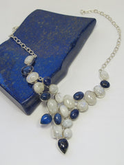 Lapis and Moonstone Necklace