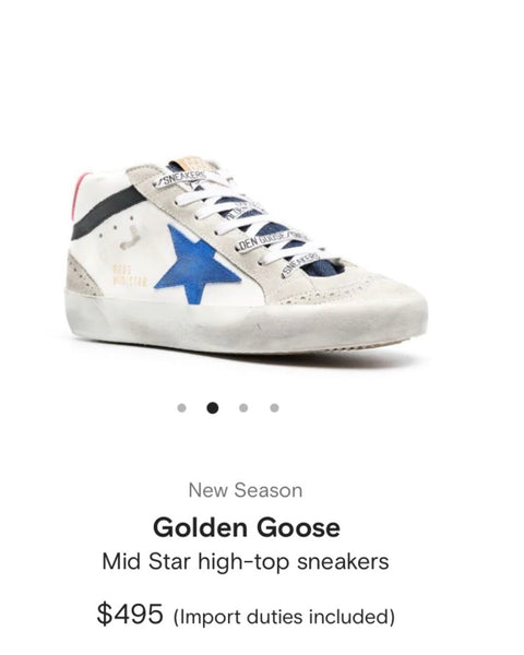 Brand New Golden Goose Midstar Sneakers- Size 38/8