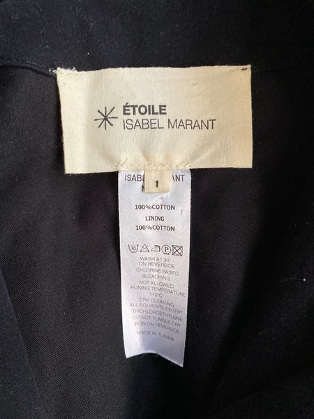 Isabel Marant Etoile Utility Jacket. Size 1/Small. Cotton. Hidden hood. Zip and snap front. Excellent used condition.