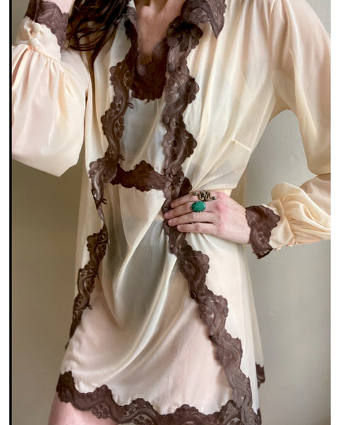 Vintage Pucci Nightgown and Robe Set Medium