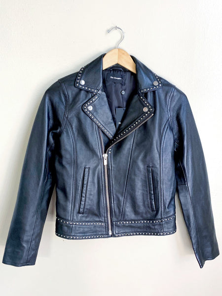 NWT The Kooples Leather Studded Jacket XS