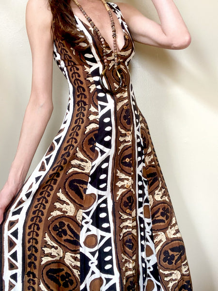 Private Collection: Vintage Tribal Button Front Dress XS/S