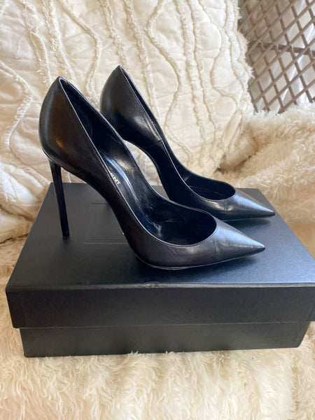 Saint Laurent Nero Stilettos Size 8