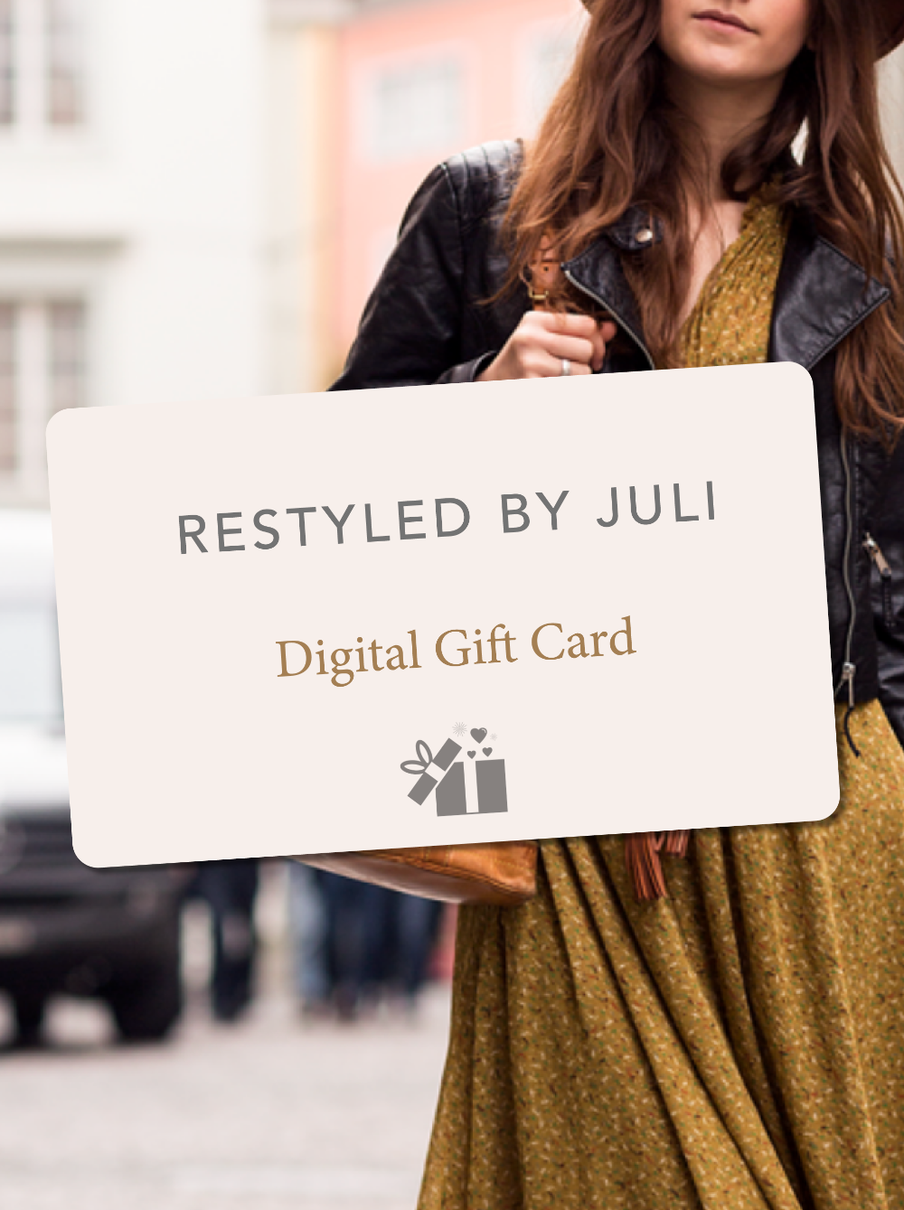 Give the gift of fabulous vintage and designer style, curated by Restyled by Juli, and available for your lucky gift recipient to shop, anytime, from anywhere.