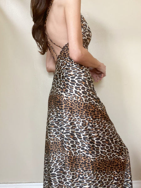 Private Collection: Vintage 70's Vanity Fair Leopard Palazzo Jumpsuit Small