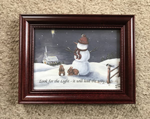 1999 snowman with quote