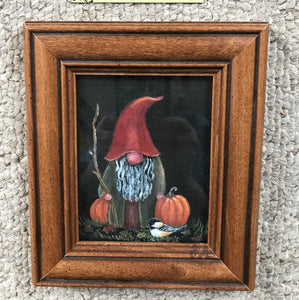 "Framed 4x5 ""Fall Gnome"""