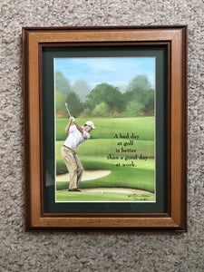 6x8 framed Golf quote