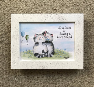 Happiness is having a best friend 5x7""