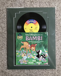 Disney's Bambi matted record and book