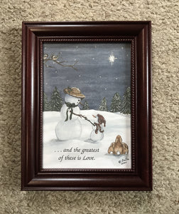 2001 snowman with quote