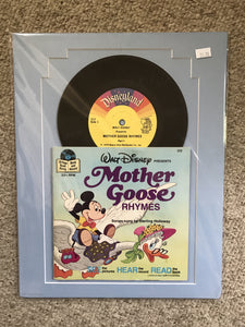 Disney's Mother Goose vintage book and record