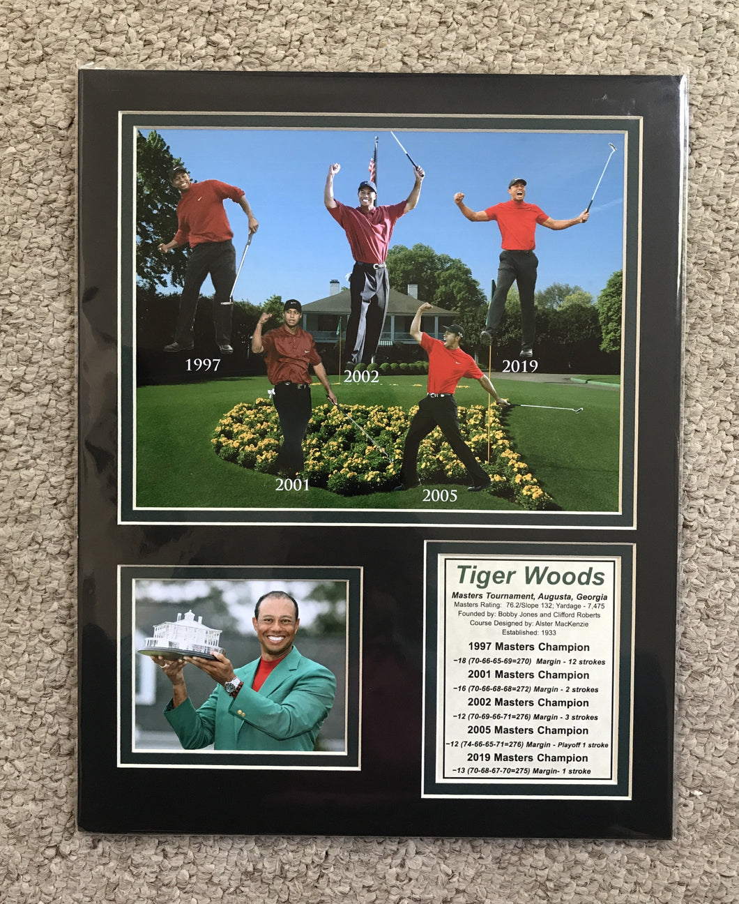 Tiger Woods 5 times Masters champion