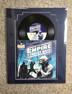 "Original 1980 record and book, ""the empire strikes back"""