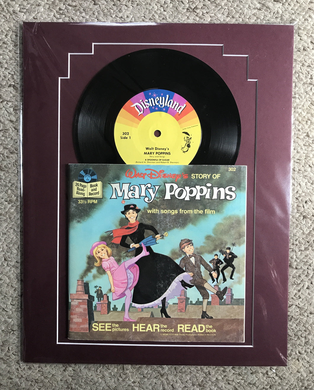 Ready to frame, Mary Poppins, 1977 record and book