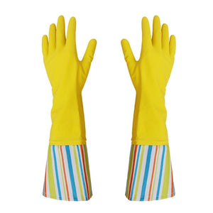 1 Pair Leather Cleaning Gloves Long Sleeves Waterproof Dishwashing Gloves Household Kitchen Car PVC Clean Cleaning Tools