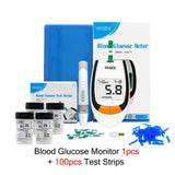 Yasee meter 100pcs Test Strips Blood Glucose Meters Needles Lancets Sugar Monitor Collect Blood Glucometer mg/dl Diabetes Tester