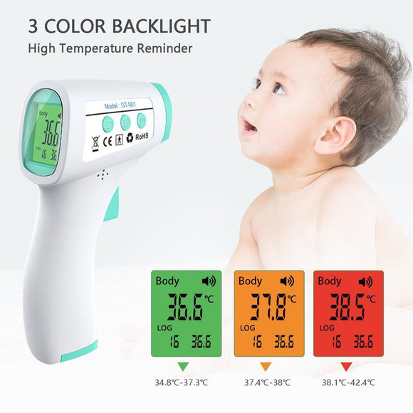 Professional Infrared Thermometer for Forehead Non-Contact Thermometer to Baby & Adults Home Digital Thermometer