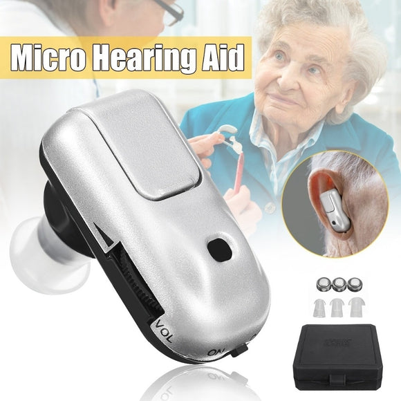 Laiwen Mini Hearing Aid Hearing Aids Device In-ear Cheap Sound Amplifier for the Deaf Ear Sound Voice Amplifier Hearing Aid