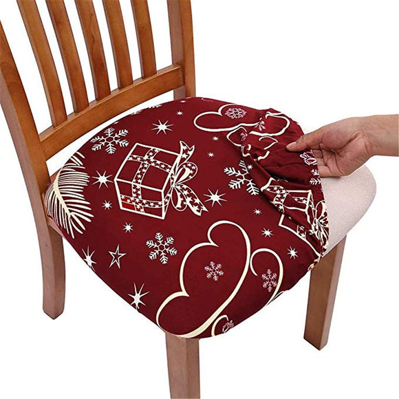 Stretch Printing Kitchen or Office Chair Covers. Seat Protector Elastic Seat Case for Dining. Computer Slipcovers Living Room