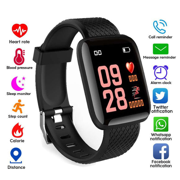 Smart Watches IP67 Waterproof Blood Pressure Heart Rate Monitor Watch Sport Smartwatch For Android IOS Apple Phone Men Women Kid