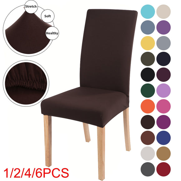 Solid Color Chair Cover Spandex Stretch Elastic Chair Slipcovers Protectors
