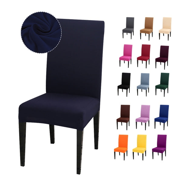 Solid Color Chair Cover Spandex Stretch Elastic Slipcovers Chair Covers.