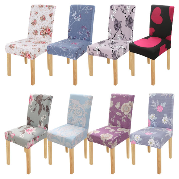 Heart Printed Chair Cover Dining Spandex Chair Cover Removable Slipcover