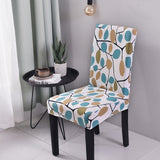 Flower Print Chair Cover Modern Kitchen Seat Case Stretch Chair Cover. Removable Elastic Slipcover