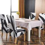 1/2/4/6pcs Long Slanting Stretch Elastic Dining Chair Cover. Slipcovers Protector Anti-Dust Home Furniture Decor