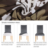 Spandex Stretch Elastic Chair Cover. Removable Washable Slipcovers For Dining Room. Chair Covers Banquet Hotel Kitchen Wedding 1 pc