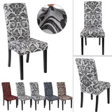 European Style Dining Room Elastic Chair Cover. Removable Washable Stretch Seat Protector