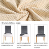 Removable Slipcover 1/2/4/6pcs Solid Stretch Spandex Dining Room Chair Covers Living Room Party Wedding Decoration Chair Cover