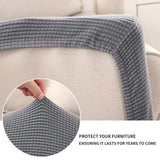 1/2/3 Seater Waterproof Sofa Seat Cushion Cover Couch. Stretch Slipcovers
