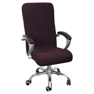 Office Computer Anti-dirty Rotating Stretch Desk Seat Chair Cover. Waterproof Elastic Chair Covers Removable Slipcovers S/M/L
