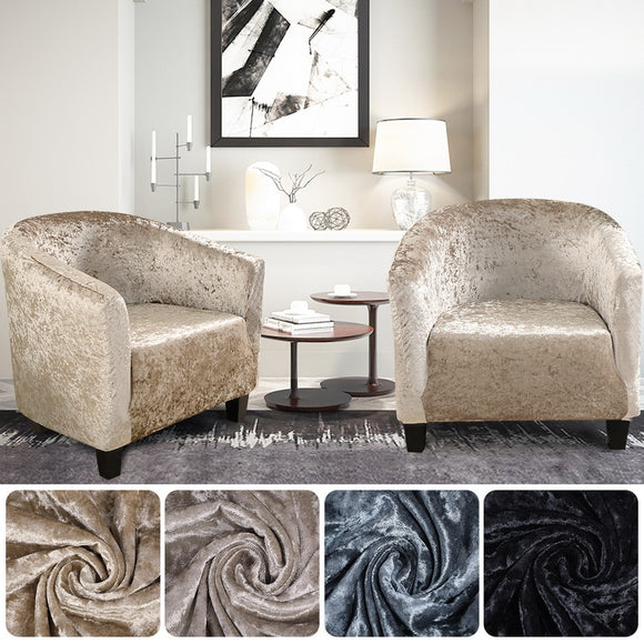 Ice Velvet Coffee Cover Armchair Sofa Cover Washable Furniture Protector Universal Elastic Sofa Cover Stretch Corner Couch