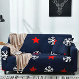 1/2/3-seater Printed Sofa Cover Stretch Polyester Slipcover Four Season Furniture Protector Loveseat Couch Cover