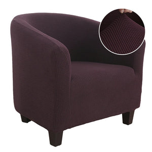 Knitter Jacquard Sofa Armchair Seat Cover Elastic Coffee Tub Sofa Armchair Seat Cover Protector Slipcover Home Chair Decor
