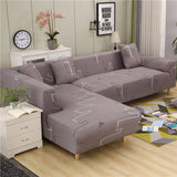 Spandex Sofa Cover for Living Room Elastic Stretch Sectional Corner Couch Cover Slipcovers, L Shape needs to buy 2pcs