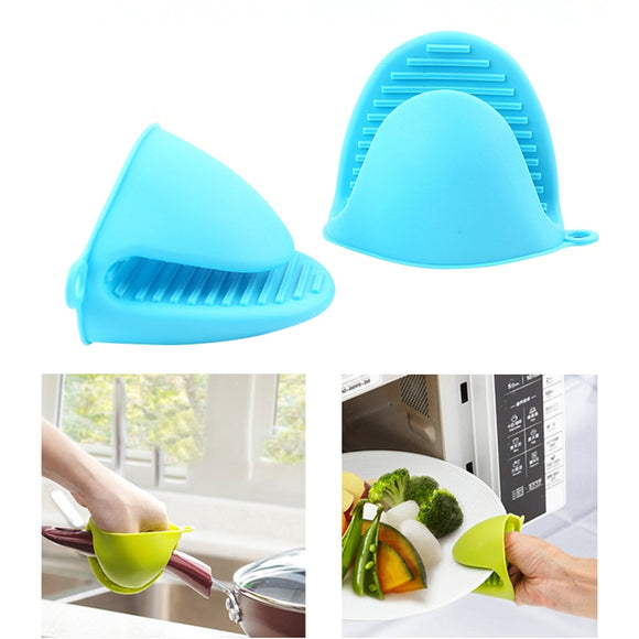 Thicken Food Grade Silicone Anti-Hot Gloves Bowl Folder Kitchen Heat Insulation Take Plate Folder Baking Oven Hand Clip