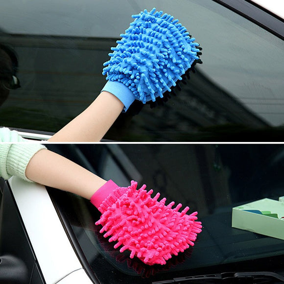 1/5 pcs Household Cleaning Gloves Washing Towels Cleaning Cloth for Car Desk Office
