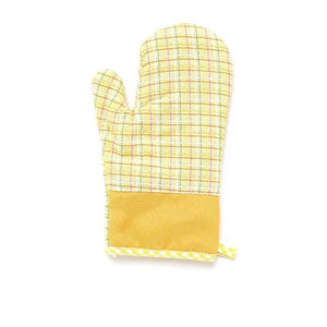 1PCS Cross cotton thickening microwave oven gloves insulation gloves high temperature insulation gloves / anti-hot gloves