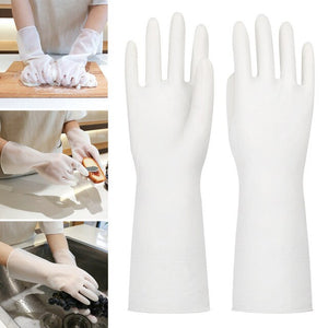 Dish Washing Gloves for Female Waterproof Rubber Latex Kitchen Durable Cleaning Household Chores Washing Dishes Gloves-30