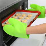 Silica gel anti-hot gloves microwave oven heat insulation gloves 1pc