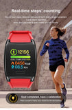 Large Color Screen Fitness Tracker Smart Bracelet Heart Rate BP Waterproof Smart Watch Sleep Monitor Pedometer Calorie Counter