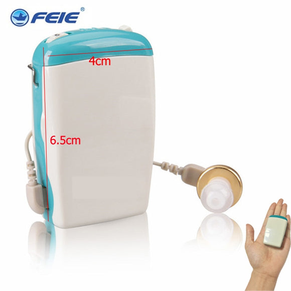 Pocket Hearing Aid Answer Phone Earphone Cheap Hearing Amplifier Sound Ear Care Health for Deafness Wire Earplugs S-6D